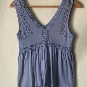 Lace vneck tank top